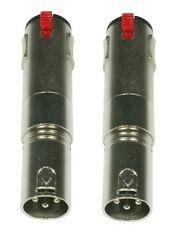 Audioadapter  2 x XLR Adapterstecker XLR male auf Klinkenbuchse 6,35 stereo