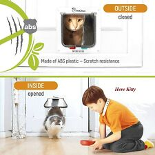 Pet Locking Screen Door - Small Cats and Dogs Clear Flap for Pets upto 19 Pounds