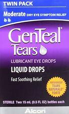 2 Pack - Genteal Tears Naturale Forte Lubricant Eye Drops 30 ML Each