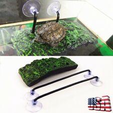 Reptile Turtle Pier Floating Basking Terrace Platform Rock Suction Cup Aquarium