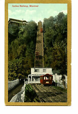 Incline Railway-Elevator-Mount Royal Park-Montreal-Canada-Vintage Postcard