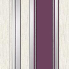 SYNERGY STRIPE WALLPAPER GLITTER PLUM - VYMURA M0800