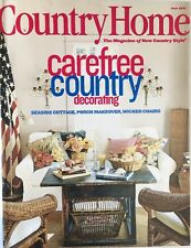 COUNTRY LIVING MAGAZINE~JUNE 2001~VINTAGE~CAREFREE COUNTRY DECOR~FREE SHIPPING