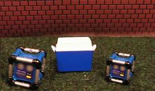 MINIATURE TWO SHOP RADIOS and ONE BLUE COOLER1:24 (G) Scale DIORAMA