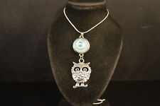 OWL NOOSA CHARM NECKLACE  New! Jewelry  USA SELLER! chunk drill snap button BIRD
