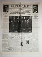 N1104 La Une Du Journal Le petit bleu 1 février 1933 actes d'hitler château
