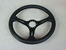 1968-1975 1977-1982 C3 Corvette Steering Wheel Black Leather Rim-3 Black Spokes