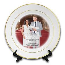 "8"" Royal Baby Master Archie Harrison Mountbatten-Windsor Ceramic Plate -Gold Rim"