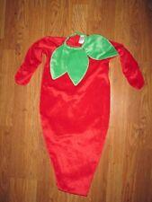 Boys Girls plush RED HOT CHILI PEPPER Halloween Costume  baby infant 0 - 3 month
