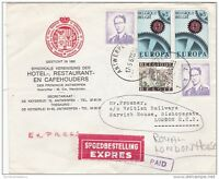 Belgium 1967 Commercial Cover Multi Stamp Express Delivery to UK ZZ579