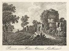 TIVOLI - VILLA ADRIANA - Johann Jacob Wagner - Radierung 1800