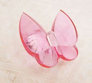 Waterford Giftology Pink Crystal Butterfly Signed