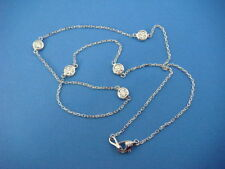 """COMFORT FIT 5 STATIONS 1 CT """"DIAMONDS BY THE YARD"""" 14K WHITE GOLD NECKLACE 18"""""""