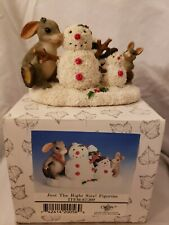 Charming Tales Fitz & Floyd ~Just The Right Size~ Snowmen Figurine