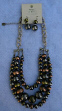 Gorgeous DaVinci Lead & Nickel Safe Glass Bead Necklace & Earrings Set