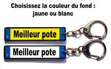 1 Porte-cles plaque d'immatriculation «Meilleur pote» couleur à choisir