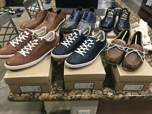 Lot 6 Pairs Of Cole Haan Shoes Saddle Driver Sneakers Size 12