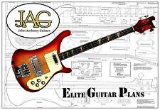 Luthiers el plan del proyecto/Dibujo Para Rikki R4001 Guitarra Ideal Regalo P035