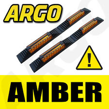 AMBER DOOR GUARD PROTECTORS EDGE STRIP REFLECTORS PEUGEOT 407 COUPE