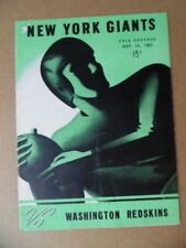 1945 New York Giants vs Washington Redskins NFL Football Program Polo Grounds VG