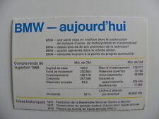Petite brochure BMW  aujourd'hui de 08 / 1969