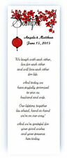 100 Personalized Custom Red Cherry Blossom Bridal Wedding Bookmarks Favors
