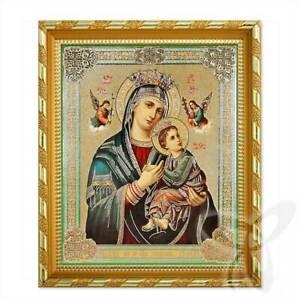 Icon of Mother of Perpetual Help Wood 21x18 Страстная Всепомогающая икона