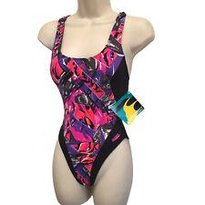 Vintage 1990s Dead Stock NWT Danskin Pro Leotard Swimsuit Aerobics Made IN USA S