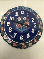 "Altindluk Porcelain Wall Clock Turkey 12"" Diameter Needs New Clock Works Vintage"