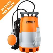 FUXTEC Schmutzwassertauchpumpe TP1750 Teichpumpe Tauchpumpe Gartenpumpe 750 Watt
