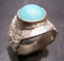 Maturo-Design-Amazonit Anello-di propria oreficeria - 999 argento finemente