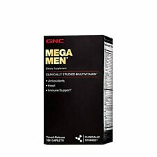 GNC Mega Men Multivitamin for Men, 180 Count, Antioxidants, Heart Health, and Im