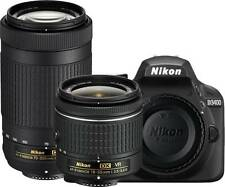 Nikon D3400 DSLR Camera with AF-P DX NIKKOR 18-55 mm + 70-300 mm Lens New