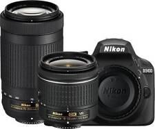 Nikon D3400 DSLR Camera with AF-P DX NIKKOR 18-55 mm + 70-300 mm Lens New