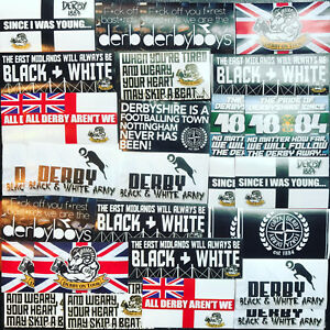 100 x Derby County Ultra Style Stickers inspired by DCFC Rams Poster Programme