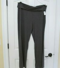 Old Navy Women's XL Super Soft Rollover Waist Yoga Type Pants Charcoal Gray NWT