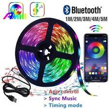 USB 64ft 5050 RGB LED Strip Light Bar TV Back Lighting Remote Control Bluetooth