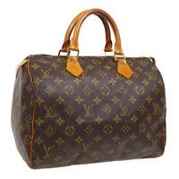 LOUIS VUITTON SPEEDY 30 HAND BAG SP0955 PURSE MONOGRAM CANVAS M41526 M15039