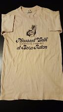 Vintage 80s Youth Kids Pheasant Walk T-Shirt Boca Raton Florida Community Retire