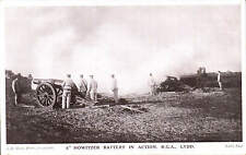 """Lydd Camp. 8"""" Howitzer Battery in Action  by A.E. Shaw, Lydd."""