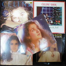 COLLECTION of 5 original french QUEBEC LP by CELINE DION lot christmas INCOGNITO