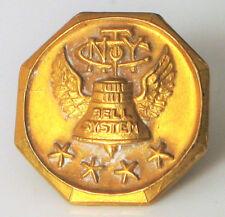 VINTAGE WHITEHEAD HOAG 10K YELLOW GOLD BELL SYSTEM NEW YORK TELEPHONE PIN 1G !