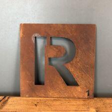 Rostbraun Metall Scrabble Buchstaben Fliesen Wanddekoration Kunst Persönliches