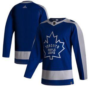 Men's Toronto Maple Leafs adidas Blue 2020/21 - Reverse Retro Wordmark Jersey