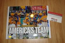Rare Jackie Robinson West Signed Autographed 11x14 Photo Chicago Little League
