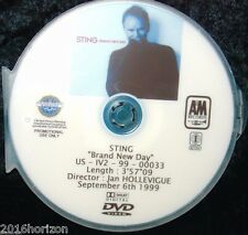 STING Brand New Day Promotional Record Company Music Video DVD Single (NOT A CD)