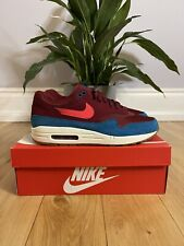 Nike Air Max 1 Team Red Green Abyss UK10.5