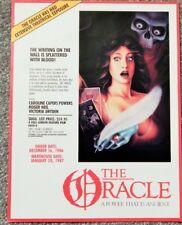 Oracle (C Powers)/ Ellis Island (Richard Burton) (1985) Video Dealer Brochure,