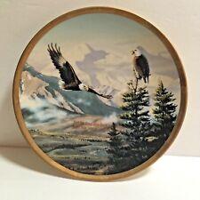 """""""Eagles on Mt McKinley"""" 24 Kt-Rimmed Eagle Conservation Plate Rick Kelley  00004000"""