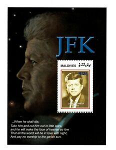 MODERN GEMS - Maldives - John F. Kennedy - Souvenir Sheet - MNH
